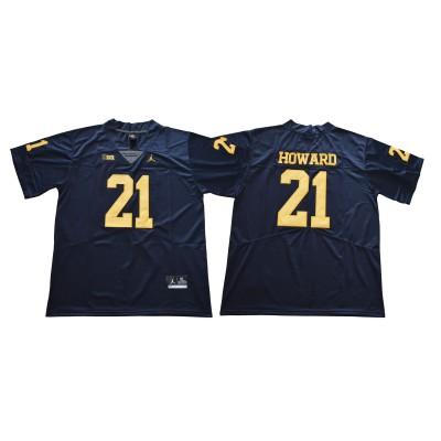 NCAA Michigan Wolverines 21 Desmond Howard Navy College Football  Legend Men Jersey