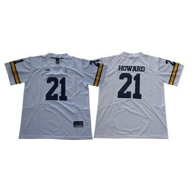 NCAA Michigan Wolverines 21 Desmond Howard White College Football  Legend Men Jersey