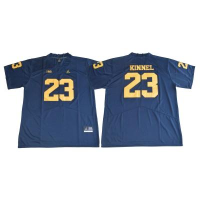 NCAA Michigan Wolverines 23 Tyree Kinnel Navy College Football  Legend Men Jersey