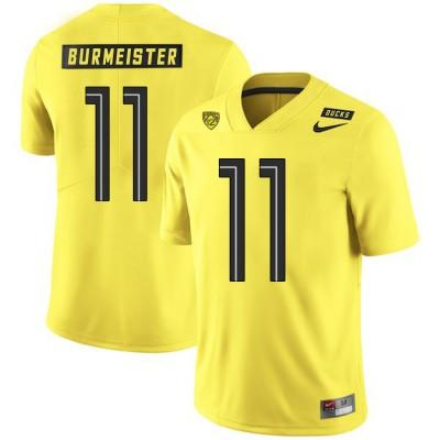 NCAA Oregon Ducks 11 Braxton Burmeister Yellow Nike College Football Men Jersey