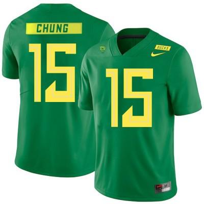 NCAA Oregon Ducks 15 Patrick Chung Apple Green Nike College Football Men Jersey