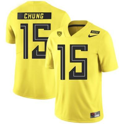 NCAA Oregon Ducks 15 Patrick Chung Yellow Nike College Football Men Jersey