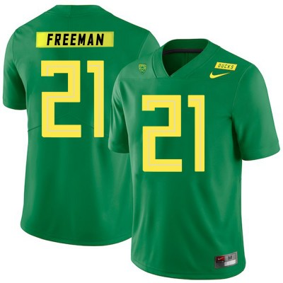NCAA Oregon Ducks 21 Royce Freeman Apple Green Nike College Football Men Jersey