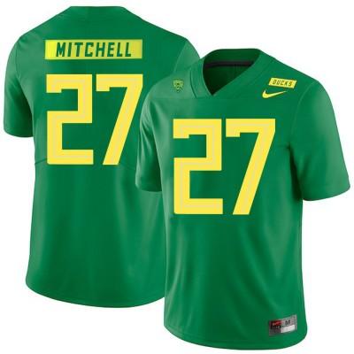 NCAA Oregon Ducks 27 Terrance Mitchell Apple Green Nike College Football Men Jersey