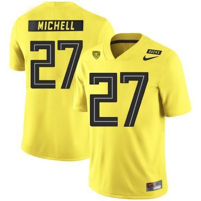 NCAA Oregon Ducks 27 Terrance Mitchell Yellow Nike College Football Men Jersey