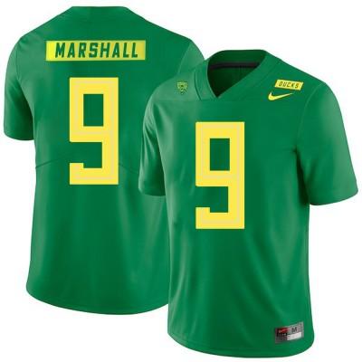 NCAA Oregon Ducks 9 Byron Marshall Apple Green Nike College Football Men Jersey