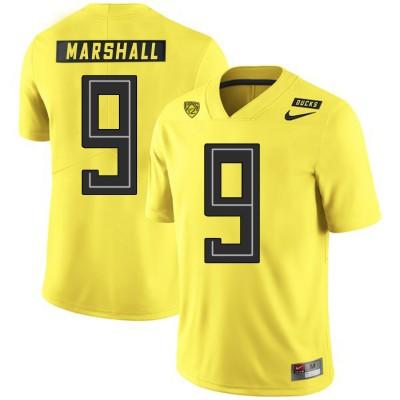 NCAA Oregon Ducks 9 Byron Marshall Yellow Nike College Football Men Jersey