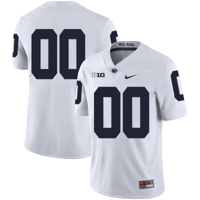 NCAA Penn State Nittany Lions White Men's Customized Nike College Football Legend Men Jersey