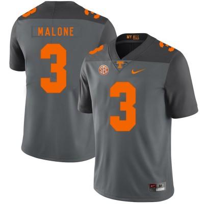 NCAA Tennessee Volunteers 3 Josh Malone Gray Nike College Football Legend Men Jersey