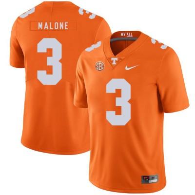 NCAA Tennessee Volunteers 3 Josh Malone Orange Nike College Football Legend Men Jersey