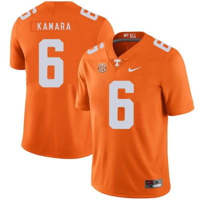NCAA Tennessee Volunteers 6 Alvin Kamara Orange Nike College Football Legend Men Jersey
