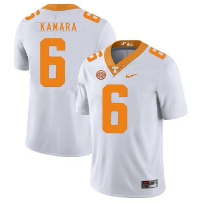 NCAA Tennessee Volunteers 6 Alvin Kamara White Nike College Football Legend Men Jersey