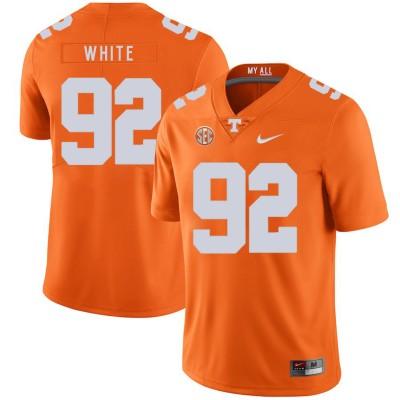NCAA Tennessee Volunteers 92 Reggie White Orange Nike College Football Legend Men Jersey