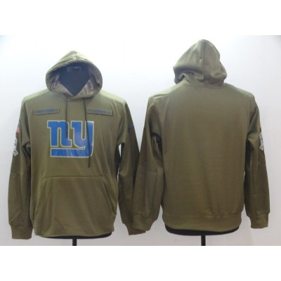 NFL New York Giants Nike 2018 Salute to Service Sideline Therma Performance Pullover Hoodie Olive