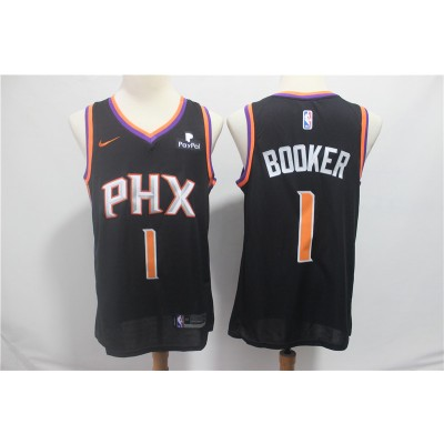 NBA Suns 1 Devin Booker Black Nike Swingman Men Jersey