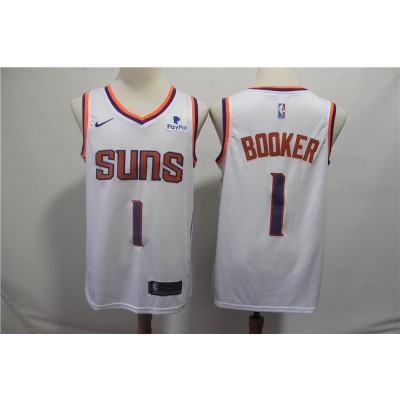 NBA Suns 1 Devin Booker White Nike Swingman Men Jersey