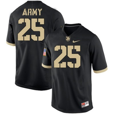 NCAA Army Black Knights 25 Connor Slomka Black College Football Men Jersey