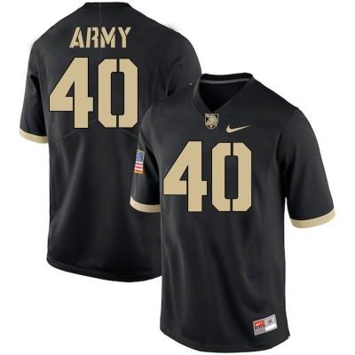 NCAA Army Black Knights 40 Andy Davidson Black College Football Men Jersey