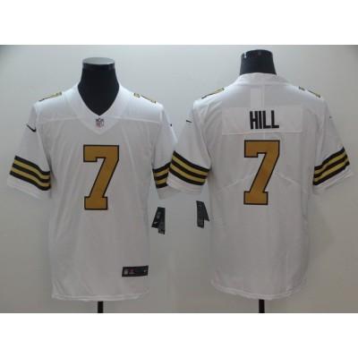 NFL Nike Saints 7 Taysom Hill White Color Rush Men Limited Jersey