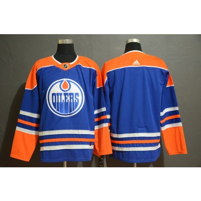 NHL Oilers Blank Blue Adidas Men Jersey