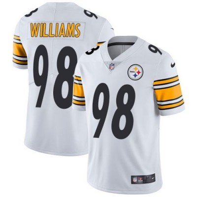 Nike Steelers 98 Vince Williams White Vapor Untouchable Limited Youth Jersey