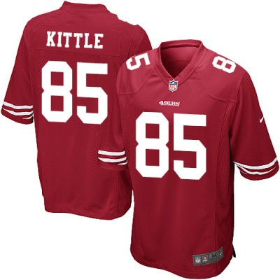 Nike 49ers 85 George Kittle Red Stitched Elite Men Jersey