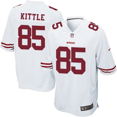 Nike 49ers 85 George Kittle White Stitched Elite Men Jersey