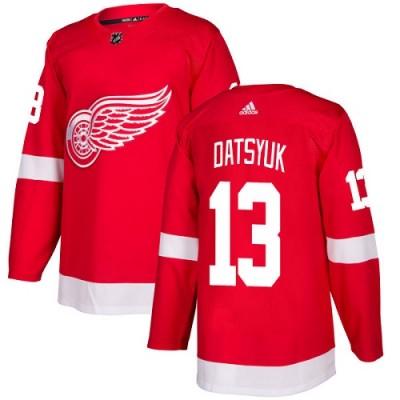 NHL Red Wings 13 Pavel Datsyuk Red Adidas Men Jersey