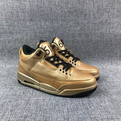 "Air Jordan 3 ""Drake"" 6IX Gold Shoes"