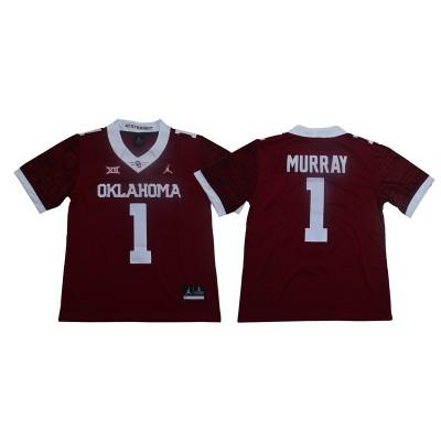 NCAA Oklahoma Sooners Jordan 1 Kyler Murray Red College Football Limited Men Jersey