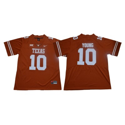 NCAA Texas Longhorns 10 Vince Young Orange Nike College Football Limited Men Jersey