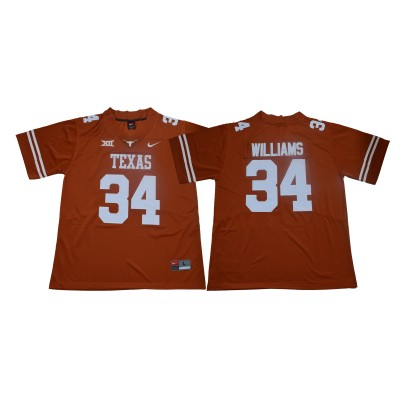 NCAA Texas Longhorns 34 Ricky Williams Orange Nike College Football Limited Men Jersey