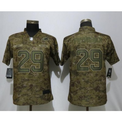 Nike Dolphins 29 Minkah Fitzpatrick 2018 Camo Salute to Service Limited Women Jersey