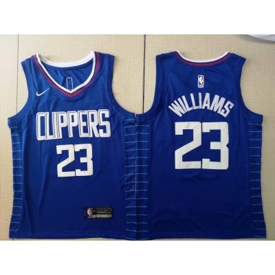 NBA Clippers 23 Lou Williams Blue Swingman Nike Men Jersey