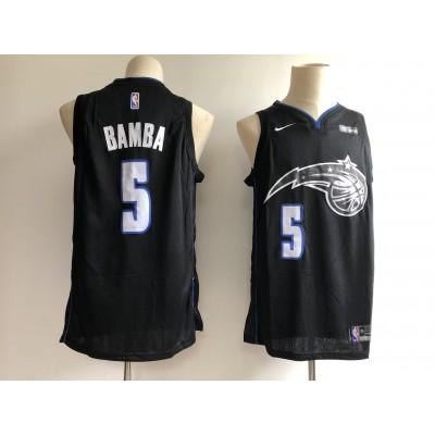 NBA Magic 5 Mohamed Bamba Black Nike Men Jersey