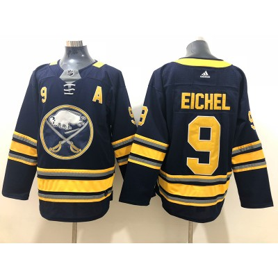 NHL Sabres 9 Jack Eichel Navy Adidas Men Jersey With A Patch