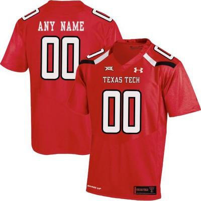 NCAA Texas Tech Red Men's Customized College Football Men Jersey