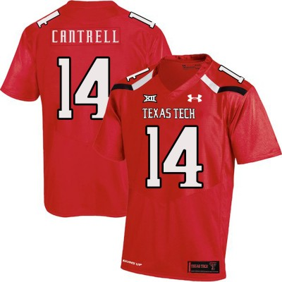 NCAA Texas Tech Red Raiders 14 Dylan Cantrell Red College Football Men Jersey