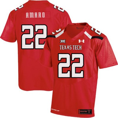 NCAA Texas Tech Red Raiders 22 Jace Amaro Red College Football Men Jersey