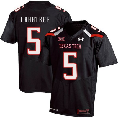 NCAA Texas Tech Red Raiders 5 Michael Crabtree Black College Football Men Jersey