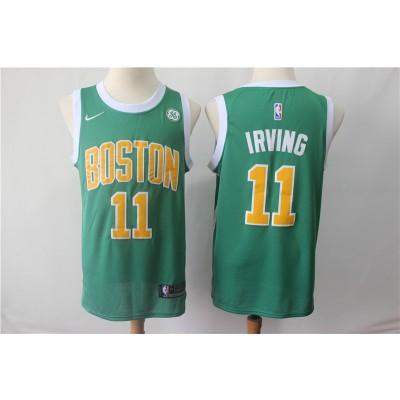 NBA Celtics 11 Kyrie Irving Green Earned Edition Nike Men Jersey