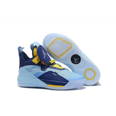 Air Jordan 33 Mint Green/Navy Blue-Yellow Shoes
