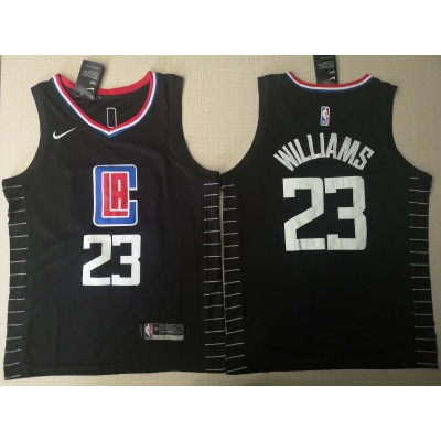 NBA Clippers 23 Lou Williams Black Swingman Nike Men Jersey