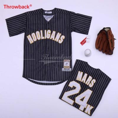 MLB 24 Bruno Mars Baseball  Black Movie Jersey
