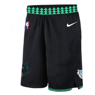 NBA Timberwolves Navy Nike Throwback Shorts