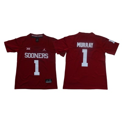 NCAA Oklahoma Sooners 1 Kyler Murray Red College Football Youth Jersey