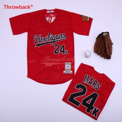 MLB 24 Bruno Mars Baseball Red Movie Jersey