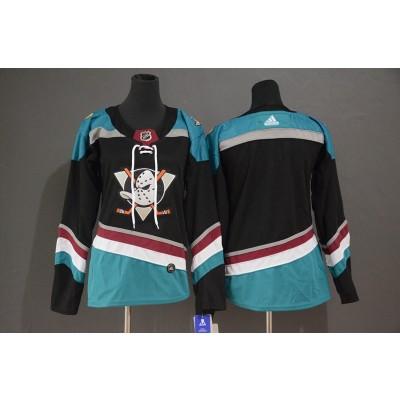 NHL Ducks Blank Black Alternate Adidas Women Jersey