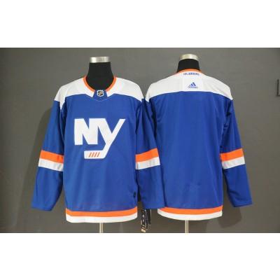 NHL Islanders Blank Blue Alternate Adidas Men Jersey
