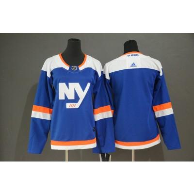 NHL Islanders Blank Blue Alternate Adidas Women Jersey